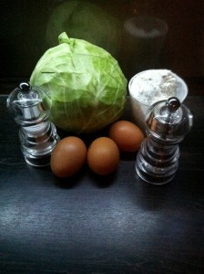 Cabbages Pancakes - ingredients
